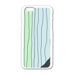 Decorative Lines Apple Iphone 6/6s White Enamel Case by Valentinaart