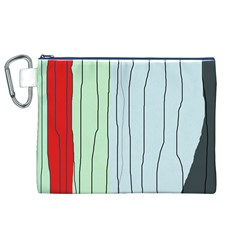 Decorative Lines Canvas Cosmetic Bag (xl) by Valentinaart