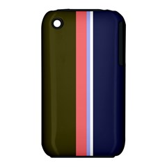 Decorative Lines Apple Iphone 3g/3gs Hardshell Case (pc+silicone) by Valentinaart