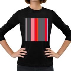Optimistic Lines Women s Long Sleeve Dark T Shirts by Valentinaart