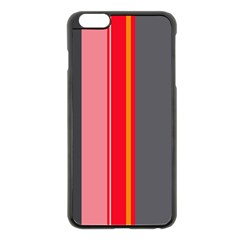 Optimistic Lines Apple Iphone 6 Plus/6s Plus Black Enamel Case by Valentinaart