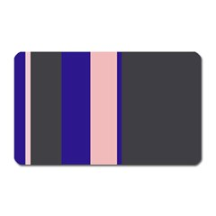 Purple, Pink And Gray Lines Magnet (rectangular) by Valentinaart
