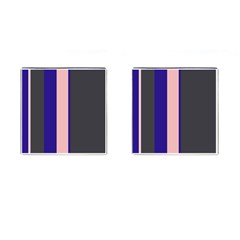 Purple, Pink And Gray Lines Cufflinks (square) by Valentinaart