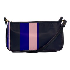 Purple, Pink And Gray Lines Shoulder Clutch Bags by Valentinaart