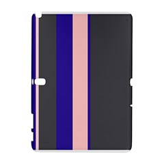 Purple, Pink And Gray Lines Samsung Galaxy Note 10 1 (p600) Hardshell Case by Valentinaart