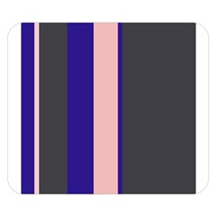 Purple, pink and gray lines Double Sided Flano Blanket (Small)