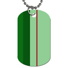 Green And Red Design Dog Tag (two Sides) by Valentinaart