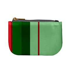 Green And Red Design Mini Coin Purses by Valentinaart