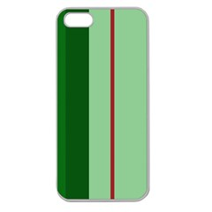 Green And Red Design Apple Seamless Iphone 5 Case (clear) by Valentinaart
