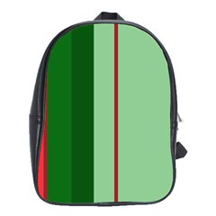 Green And Red Design School Bags (xl)  by Valentinaart