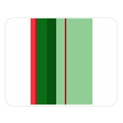 Green And Red Design Double Sided Flano Blanket (large)  by Valentinaart