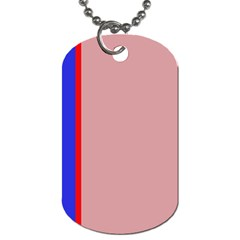 Pink Elegant Lines Dog Tag (two Sides) by Valentinaart