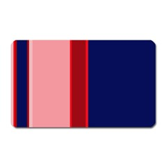 Pink and blue lines Magnet (Rectangular) by Valentinaart