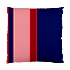 Pink And Blue Lines Standard Cushion Case (one Side) by Valentinaart