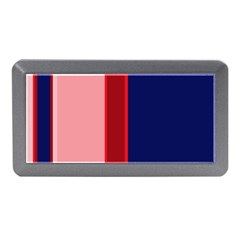 Pink And Blue Lines Memory Card Reader (mini) by Valentinaart