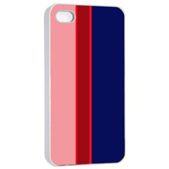 Pink And Blue Lines Apple Iphone 4/4s Seamless Case (white) by Valentinaart