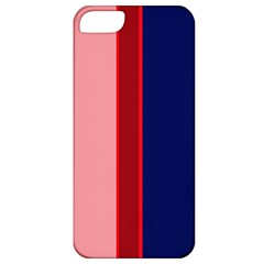 Pink And Blue Lines Apple Iphone 5 Classic Hardshell Case by Valentinaart