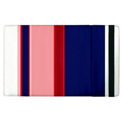 Pink And Blue Lines Apple Ipad 2 Flip Case by Valentinaart