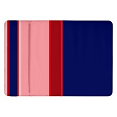 Pink And Blue Lines Samsung Galaxy Tab 8 9  P7300 Flip Case by Valentinaart
