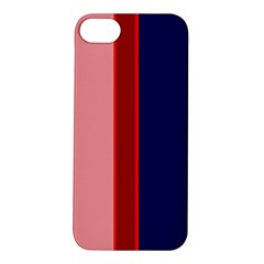 Pink And Blue Lines Apple Iphone 5s/ Se Hardshell Case by Valentinaart