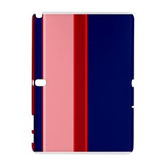 Pink and blue lines Samsung Galaxy Note 10.1 (P600) Hardshell Case by Valentinaart