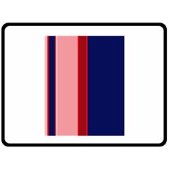 Pink And Blue Lines Double Sided Fleece Blanket (large)  by Valentinaart