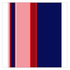 Pink And Blue Lines Large Satin Scarf (square) by Valentinaart