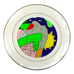 Crazy Abstraction Porcelain Plates by Valentinaart