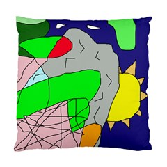 Crazy Abstraction Standard Cushion Case (two Sides) by Valentinaart
