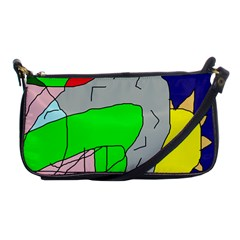 Crazy Abstraction Shoulder Clutch Bags by Valentinaart