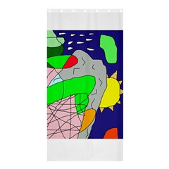 Crazy Abstraction Shower Curtain 36  X 72  (stall)  by Valentinaart