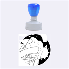 Crazy Abstraction Rubber Round Stamps (medium)