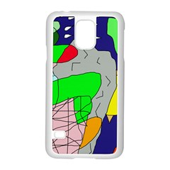 Crazy Abstraction Samsung Galaxy S5 Case (white) by Valentinaart
