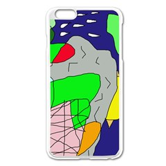 Crazy Abstraction Apple Iphone 6 Plus/6s Plus Enamel White Case by Valentinaart