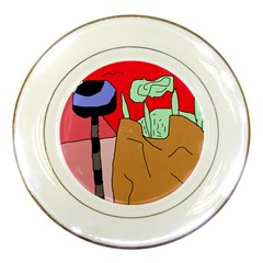 Imaginative abstraction Porcelain Plates by Valentinaart