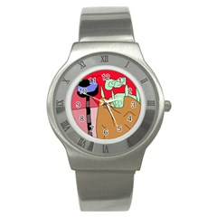 Imaginative Abstraction Stainless Steel Watch by Valentinaart