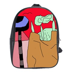 Imaginative Abstraction School Bags (xl)  by Valentinaart
