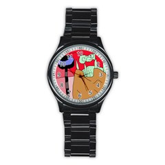 Imaginative Abstraction Stainless Steel Round Watch by Valentinaart