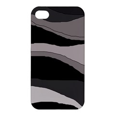 Black And Gray Design Apple Iphone 4/4s Premium Hardshell Case by Valentinaart