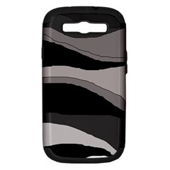 Black and gray design Samsung Galaxy S III Hardshell Case (PC+Silicone) by Valentinaart