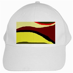 Decorative Abstract Design White Cap by Valentinaart