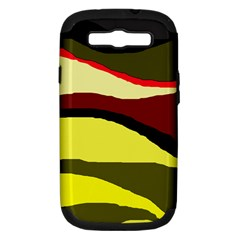 Decorative Abstract Design Samsung Galaxy S Iii Hardshell Case (pc+silicone) by Valentinaart
