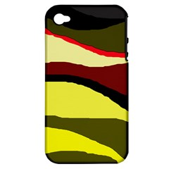 Decorative Abstract Design Apple Iphone 4/4s Hardshell Case (pc+silicone) by Valentinaart