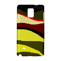 Decorative Abstract Design Samsung Galaxy Note 4 Hardshell Case by Valentinaart