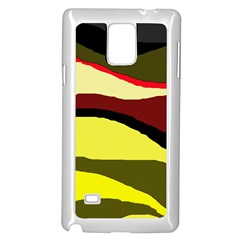 Decorative Abstract Design Samsung Galaxy Note 4 Case (white) by Valentinaart