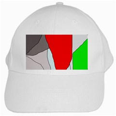 Colorful Abstraction White Cap by Valentinaart