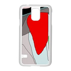 Colorful Abstraction Samsung Galaxy S5 Case (white) by Valentinaart