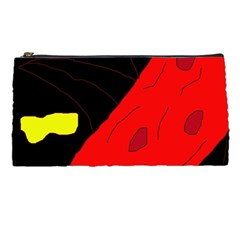 Red Abstraction Pencil Cases by Valentinaart