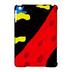 Red abstraction Apple iPad Mini Hardshell Case (Compatible with Smart Cover) by Valentinaart
