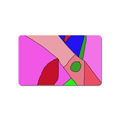 Pink Abstraction Magnet (name Card) by Valentinaart